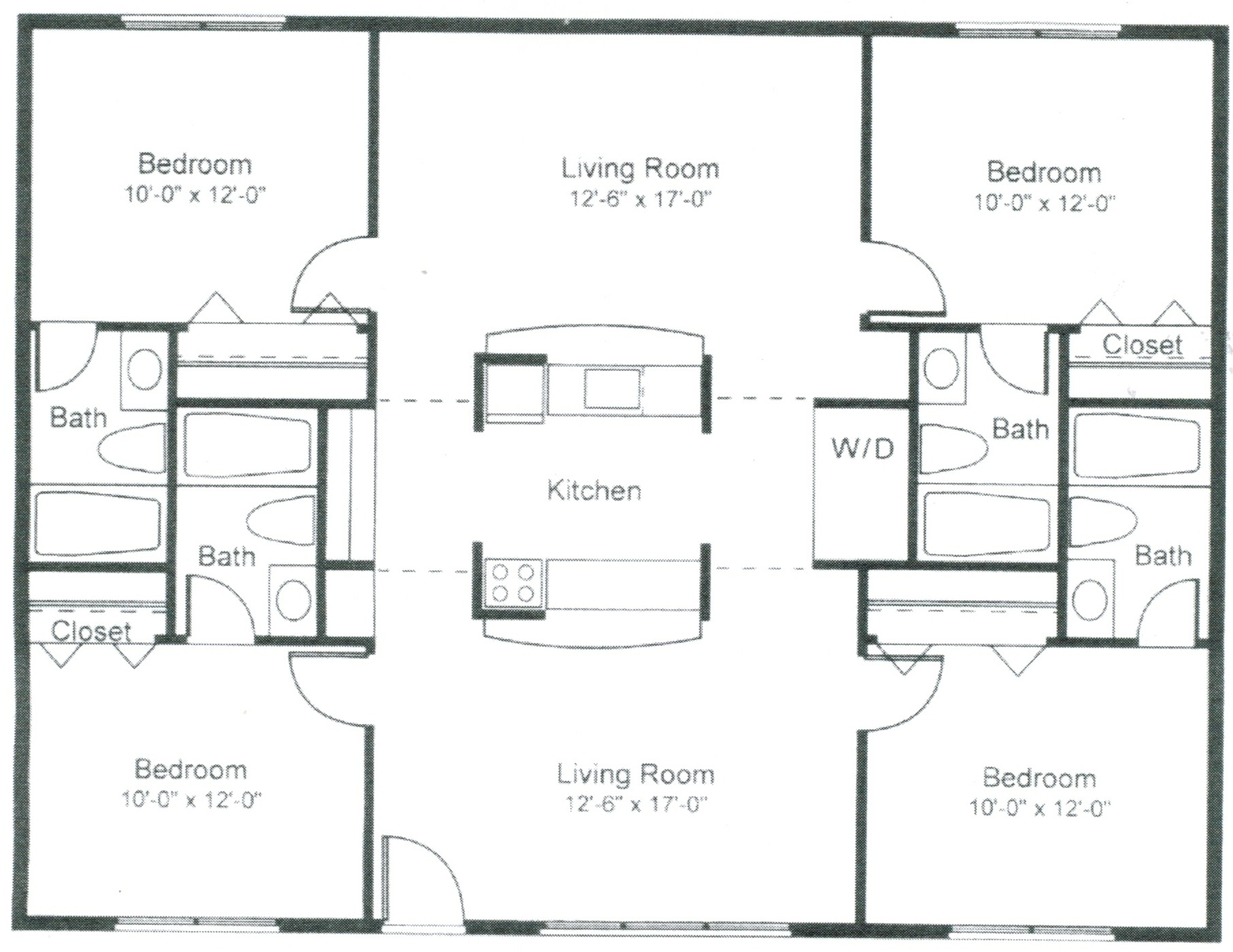 Floorplans pricing the metropolitan for Best bathroom layout plans